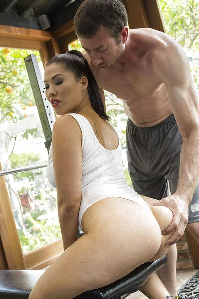Asian brunette London Keyes has her pussy licked out and ass fucked