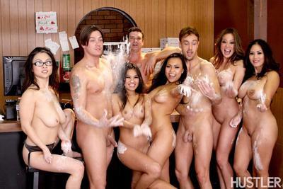 Gia Lee, Cindy Starfall, Mia Lelani, Mia Rider and Jessica Bangkok are horny Asian pornstars.
