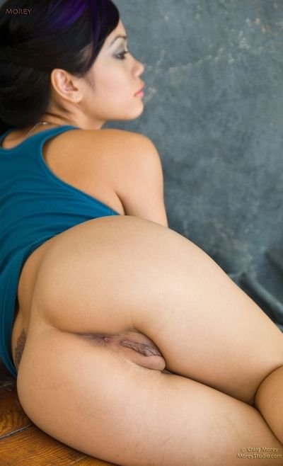 Pretty cute and handsome brunette babe Xuan Vy is hotly posing and showing amazingly sexy tight cunt