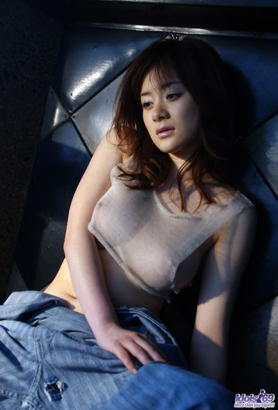 Softcore session in which hot Sumire Aida slowly strips and shows the nude charms