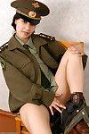 корейский любительское Елена зачистки офф военные униформа в поза ню
