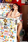 Naked big titted heartbreaker Tera Patrick poses naked with huge lollipop