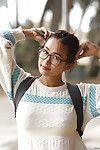 Adorable Asian babe Saki Kishima showcasing her amazing curves outdoors