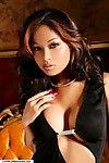 Brunette pornstar Lyda Dee shows her wonderful Asian big tits