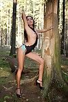 Asian honey Davon Kim is ready to show off her nice body in the woods...