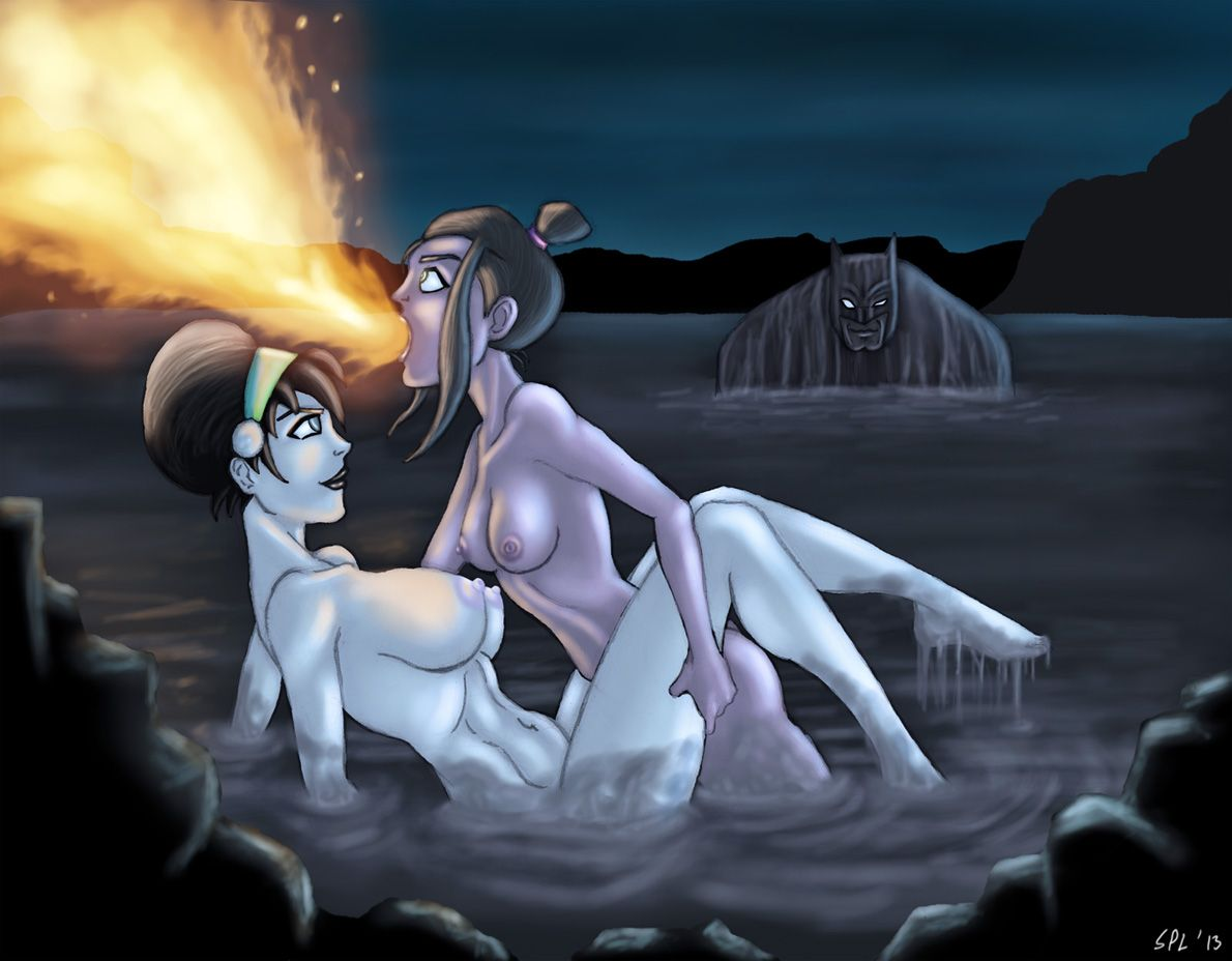 BDSM fuck in Avatar cartoon - Korra and Aang have fun
