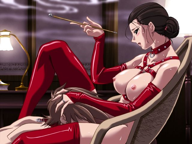 Amazing hentai latex sluts expose their lascivious asses and wait to be screwed