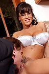 Big titted mature hotty in glasses Lisa Ann accepts her snatch eaten and fucked after blowjob