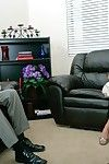 Sex therapist watches blue eyed blonde Memphis Monroe with terrific big breasts get a good fuck