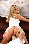Blonde Tiffany Rayne with sexy big boobs takes good cumshot after nice pussy pounding