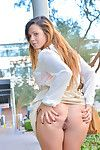 Young Keisha shows off her tiny pussy in lovely outdoor solo scene