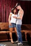 The kinky big titted milf Lisa Ann is beading the tight pussy on dude's stuff
