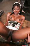 Interracial porn with black hottie getting nailed right