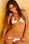 Teen Ella Santos looking gorgeous while removing her sexy bikini