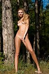 Skinny teen Iveta Mischa has gorgeous perky tits that give the impression flawless with tan lines