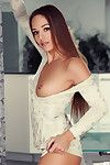 Amateur doll with slight body amazes in her nude solo show