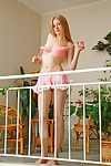 Tall doll faced teenage queen Avril A location naked with no hiding her pink pussy