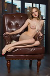 Exclusively legal amateur Angela strikes great undressed standing wearing a strand of pearls