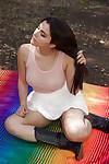 Tasty dark hair teen Valentina Nappi showcasing her dazzling average tits