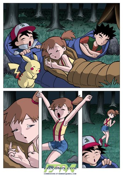 Horny teens from Pokemon Comics fucks with reference to huge dildo